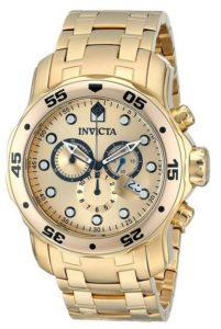 Uhr gold: Invicta Herren-Armbanduhr XL Chronograph Quarz
