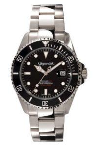 Gigandet Automatik Herren-Armbanduhr Sea Ground Edelstahlarmband Schwarz Silber Männer Uhren Edelstahl