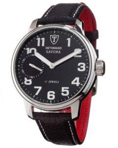 Uhren Handaufzug: DETOMASO Herrenuhr Handaufzug SAVONA Classic schwarz/schwarz