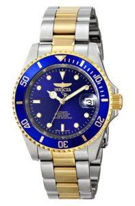 Uhr gold: Invicta Unisex-Armbanduhr Analog Automatik