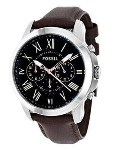 Fossil Herren-Armbanduhr Grant Männer Uhren Leder