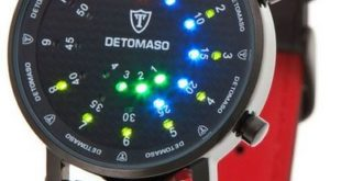 LED Uhren: DETOMASO Herrenuhr Quarz SPACY TIMELINE