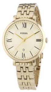 Damenuhr gold: Fossil Damen-Armbanduhr