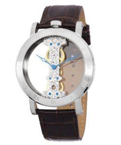 Uhren Handaufzug: Burgmeister Herren-Armbanduhr Analog Handaufzug Kunstleder