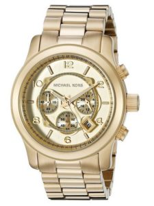 Uhr gold: Micheal Kors Herren-Armbanduhr Analog Quarz