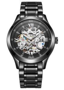 Mechanische Armbanduhr: BOS Herren Automatikuhr Skeleton