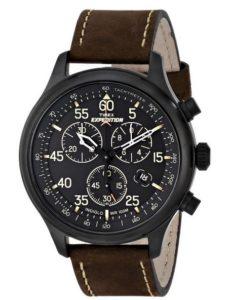 Timex Damen, Herren Digitaluhr Männer Uhren Leder