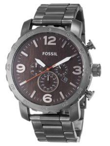 Fossil Herren-Armbanduhr Analog Quarz Edelstahl Männer Uhren Edelstahl