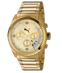 Uhr gold: Puma Time Herren-Armbanduhr XL Cycle Chronograph Quarz